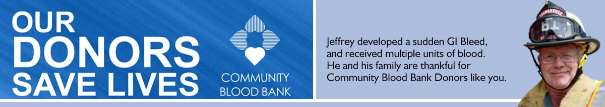 Community Blood Bank- Jeffrey